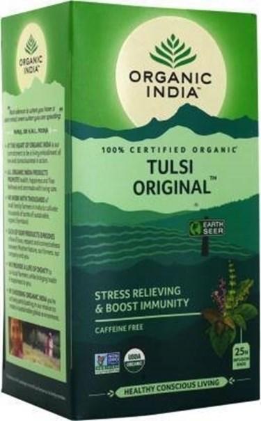Imagem de Chá Tulsi Verde Organic India Cx 25 Sachê 45g