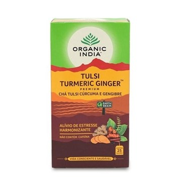 Imagem de Chá Tulsi Limão E Gengibre 25 Sachês Organic India