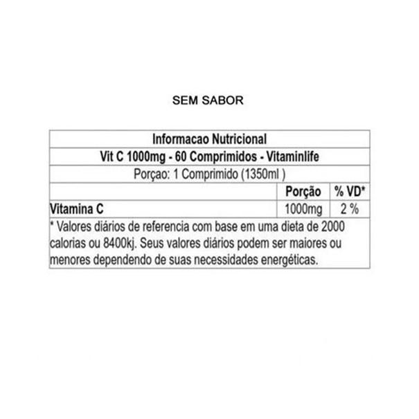 Imagem de Vitamina C Mast Vitamin LIfe 1000mg 60caps