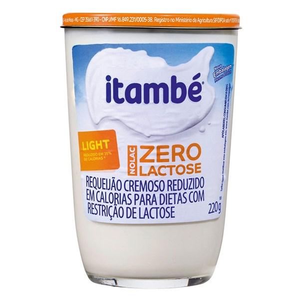 Imagem de Requeijão Cremoso Light Sem Lactose Itambé 220g