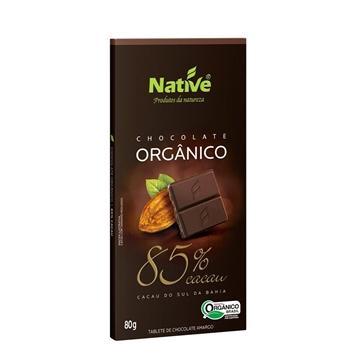 Imagem de Chocolate Orgânico 85% Cacau Native 80g