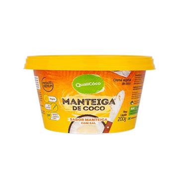 Imagem de Manteiga de Coco Sabor Manteiga Com Sal QualiCôco 200g