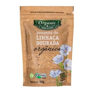 Imagem de Semente de Linhaça Dourada Orgânica Organic 200g