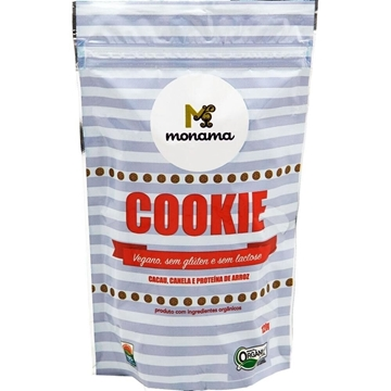 Imagem de Cookie Vegano de Cacau e Canela Orgânico Monama 120g