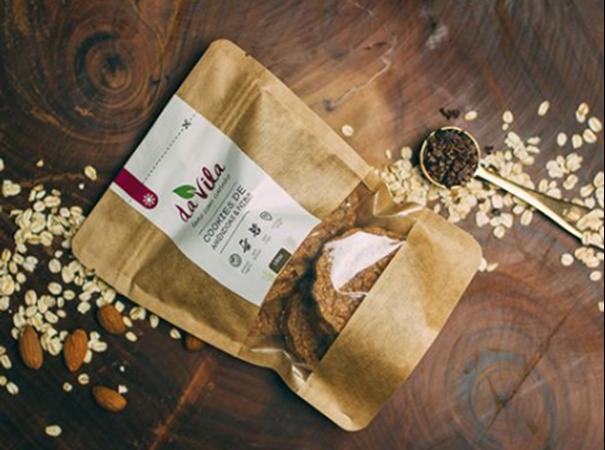 Imagem de Cookies de Amêndoas e Nibs da Vila 160g