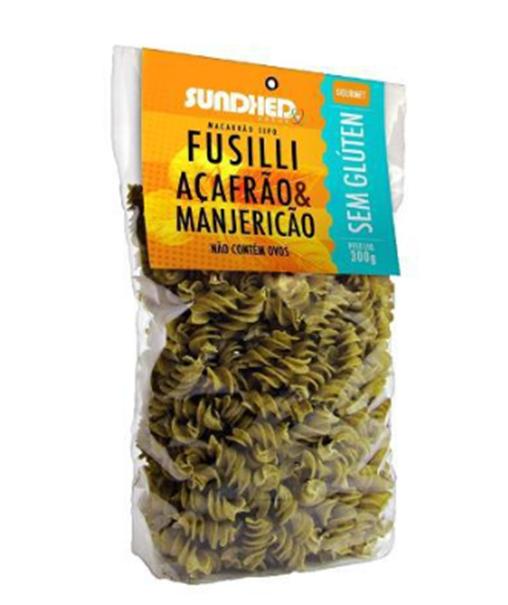 Imagem de Macarrão de Arroz Fusilli com Açafrão e Manjericão Sundhed 300g