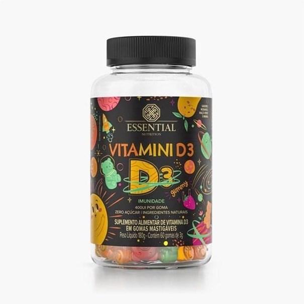 Imagem de Vitamina D - Vitamini D3 (60 gomas 3g) 180g - Essential Nutrition