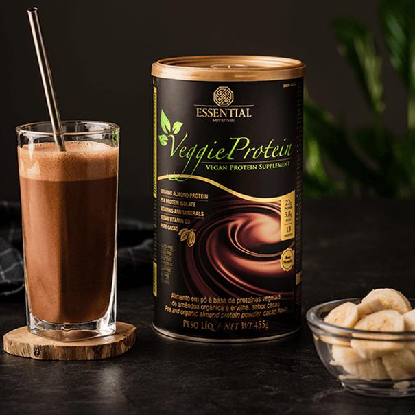 Imagem de Veggie Protein Cacau Essential Nutrition lata 455g