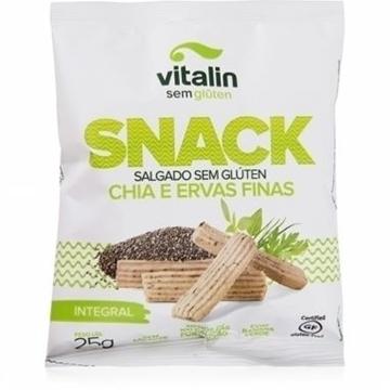 Imagem de Snack Sem Glúten Chia e Ervas Finas Vitalin 25g