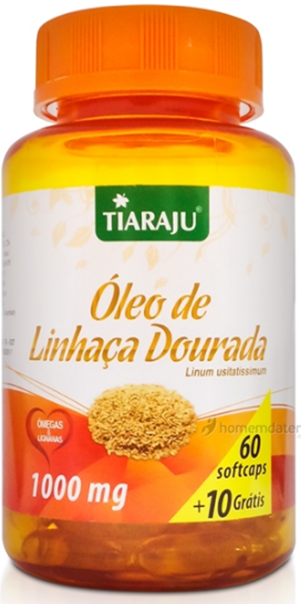 Imagem de Óleo de Linhaça Dourada Tiaraju 1g (60cps)