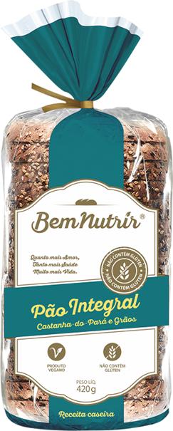 Imagem de Pão Bem Nutrir Integral Castanha e Grãos Sem GLúten 420g