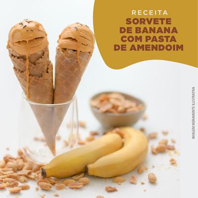 Sorvete de Banana com Pasta de Amendoim