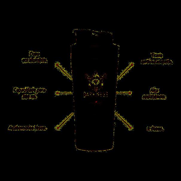 Imagem de Coqueteleira Alumínio Darkness 2 Doses - preta