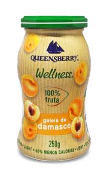 Imagem de Geleia de damasco 100% fruit 250g - Queensberry