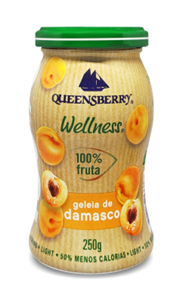Imagem de Geleia de damasco 100% fruit 250g - Queensberry