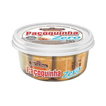 Imagem de Paçoca rolha Dacolonia zero açúcar pote 170g