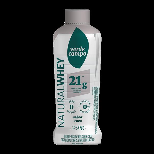 Imagem de Iogurte Natural Whey 21g coco 250g - Verde Campo