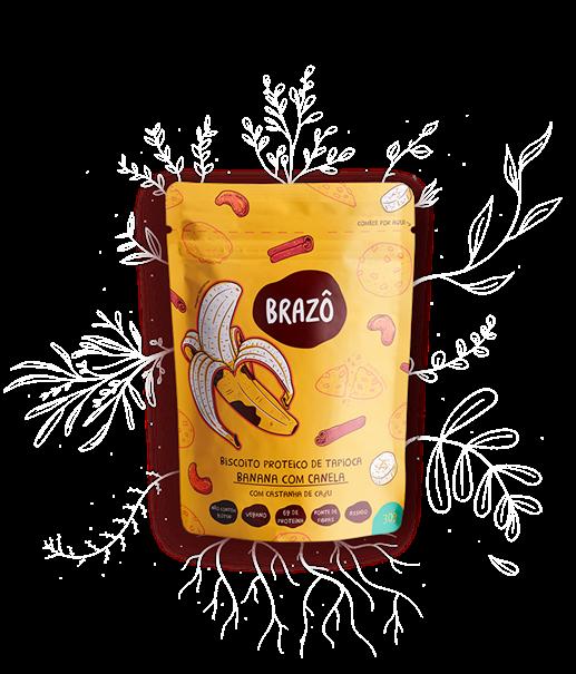 Imagem de Biscoito proteico de tapioca banana c/canela 30g- Brazô