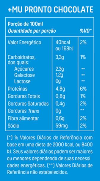 Imagem de Bebida Lactea Chocolate Mais Mu 250ml
