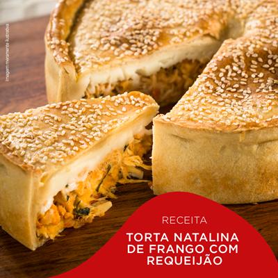 Torta Natalina de Frango com Requeijão