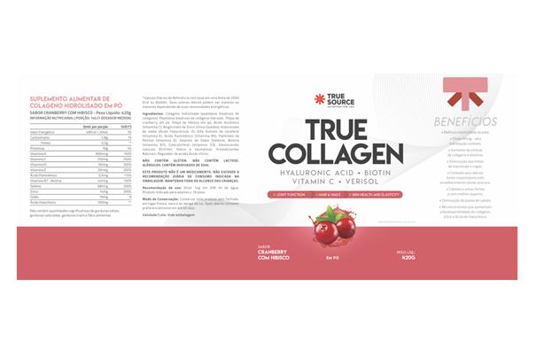 Imagem de Colágeno True Source Cranberry e Hibisco 420g