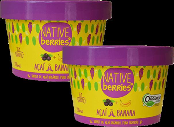 Imagem de Sorbet de  Açai com Banana -  Native Berries 200g