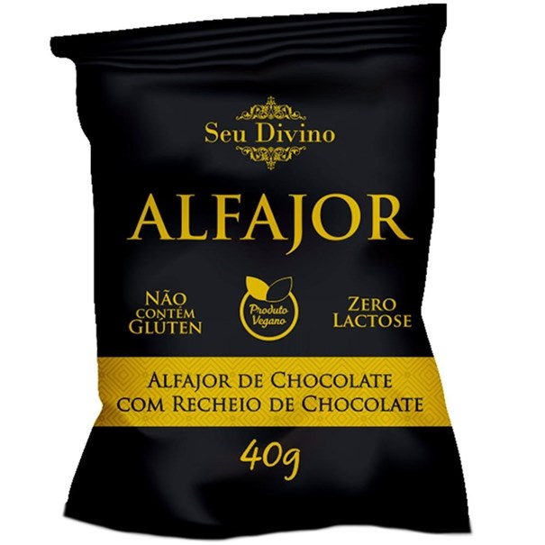 Imagem de Alfajor sem glúten chocolate 40g -Seu Divino