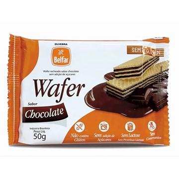 Imagem de Wafer Belfar Sem Glúten Sem Lactose Chocolate 50g