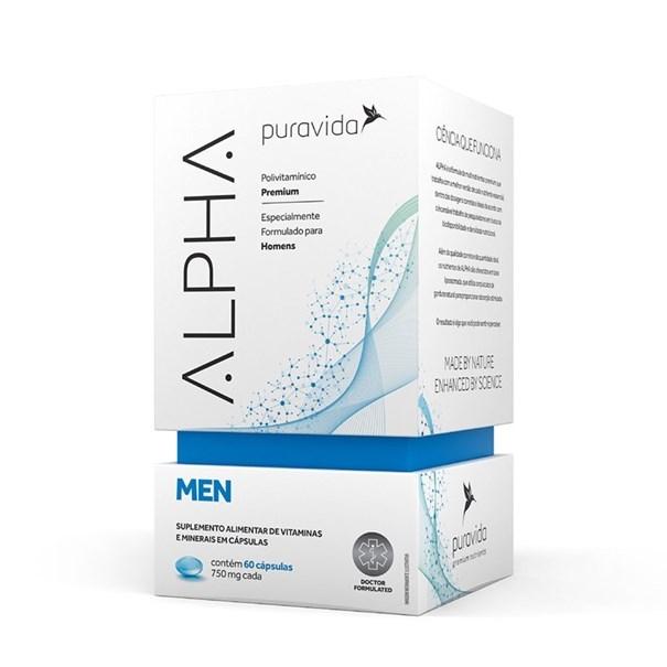 Imagem de Alpha Men Polivitamínico Premium Pura Vida 60 Cápsulas