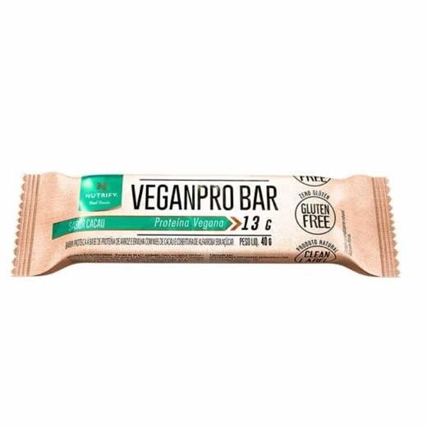 Imagem de Barra de Proteínas Vegana Veganpro Cacau Nutrify 40G