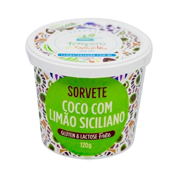 Imagem de Sorvete de Coco com Limão Siciliano - Tempero e Saúde  120g