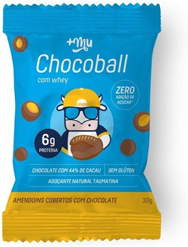 Imagem de Chocoball com Whey Amendoim e Cobertura Chocolate MAIS MU  30g