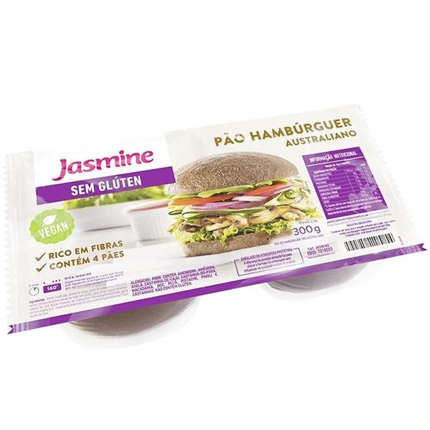 Imagem de Pão de Hamburguer Jasmine Original Sem Glúten 300g