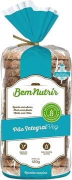 Imagem de Pão Bem Nutrir Integral Veg Sem Glúten Sem Lactose e Vegano 450g