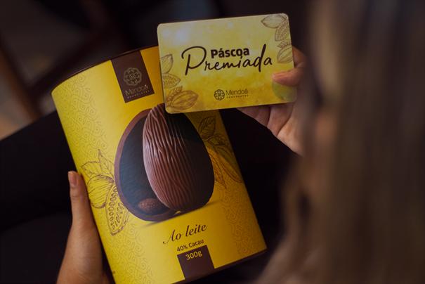 Imagem de Ovo de Pascoa 40% Cacau - Mendoa 300g