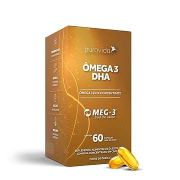 Imagem de Ômega 3 DHA Concentrate Pura Vida 60 Caps 1000 Mg