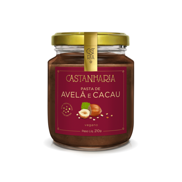 Imagem de Pasta Avelã e Cacau - Castanharia 210g