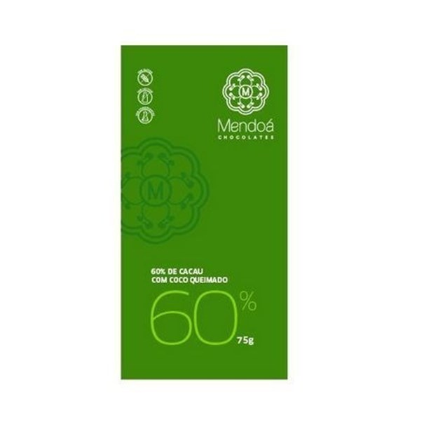 Imagem de Chocolate 60% cacau coco 80g -Mendoa
