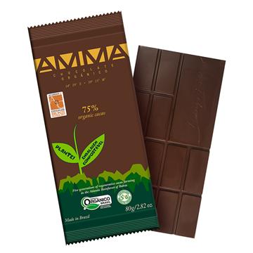 Imagem de Chocolate 75 % cacau orgânico 80g -Amma
