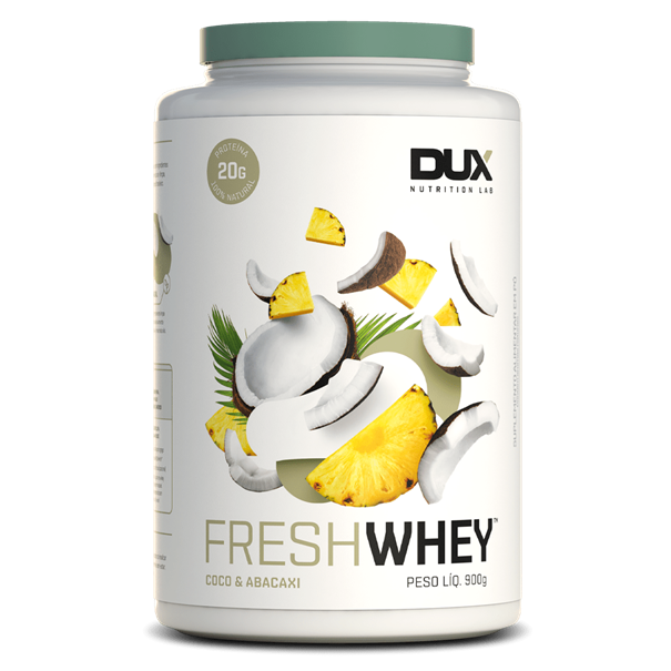 Imagem de Proteina Fresh Whey Abacaxi e Coco - Dux 900g