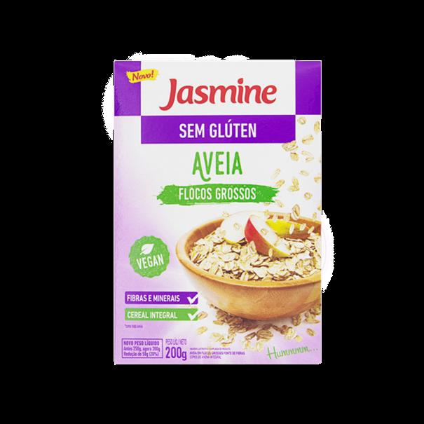 Imagem de Aveia em flocos grosso sem glúten 200g -Jasmine