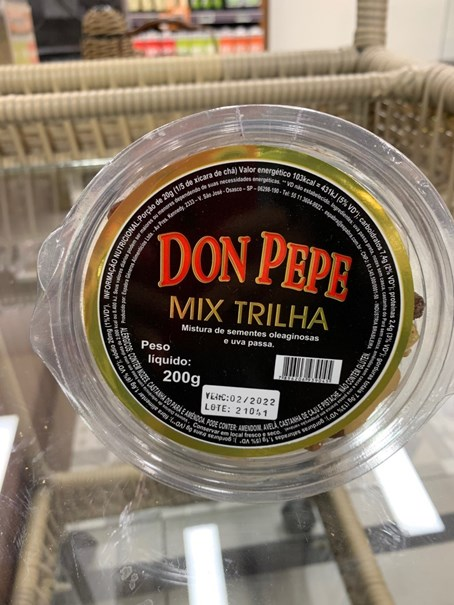 Imagem de Mix Trilha Sementes e Oleaginosas Don Pepe - 200g
