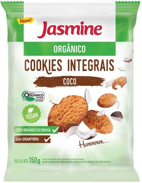 Imagem de Biscoito cookies de coco orgânico 150g -Jasmine