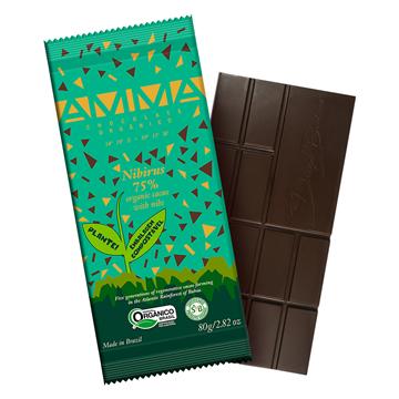 Imagem de Chocolate orgânico nibirus 75% cacau 80g -  Amma