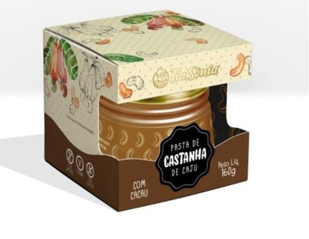 Imagem de Pasta de Castanha de Caju com  Cacau - Tia Sonia 160g