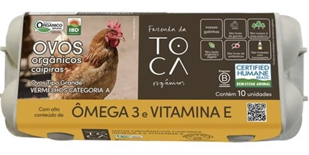 Imagem de Ovos  Organicos Caipira  Omega 3 - Fazenda da Toca 10 Unidades