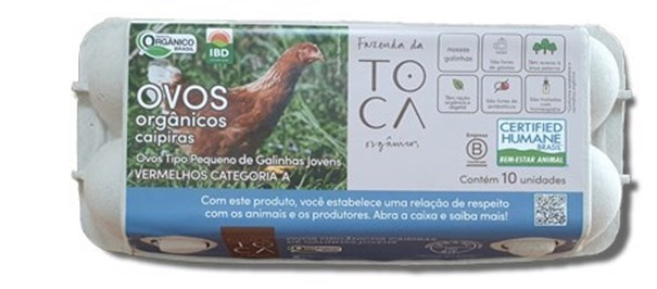 Imagem de Ovos  Organicos Caipiras de Galinhas Mais Jovens - Fazenda da Toca  10 Unidades