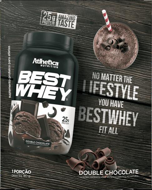 Imagem de Best Whey Protein Double Chocolate 40g ( Sachê Dose única) - Athletica