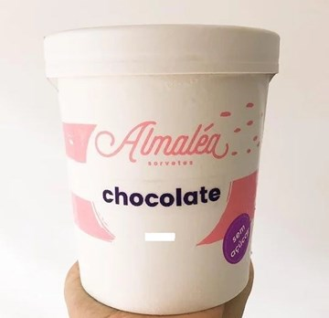 Imagem de Sorvete Sem Açúcar Almalea Chocolate 120ml