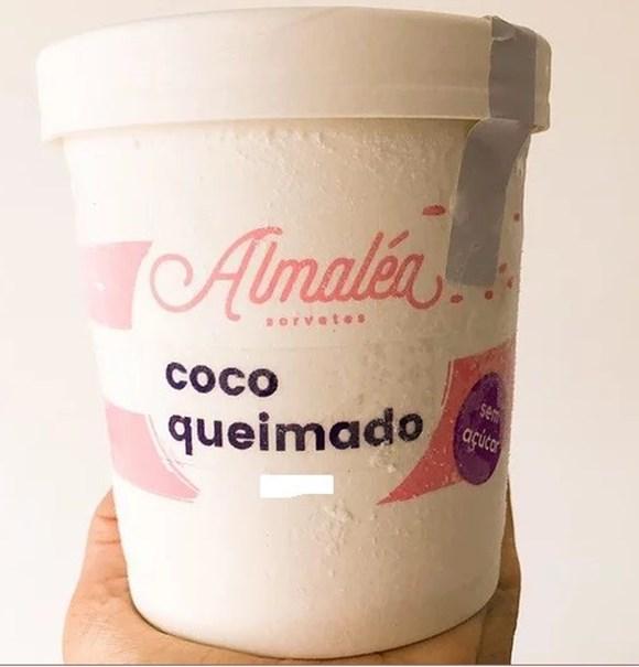 Imagem de Sorvete Sem Açúcar Coco Queimado - Almalea 120ml